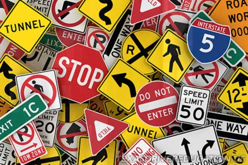 Texas Drivers License Practice Test - Warning Signs
